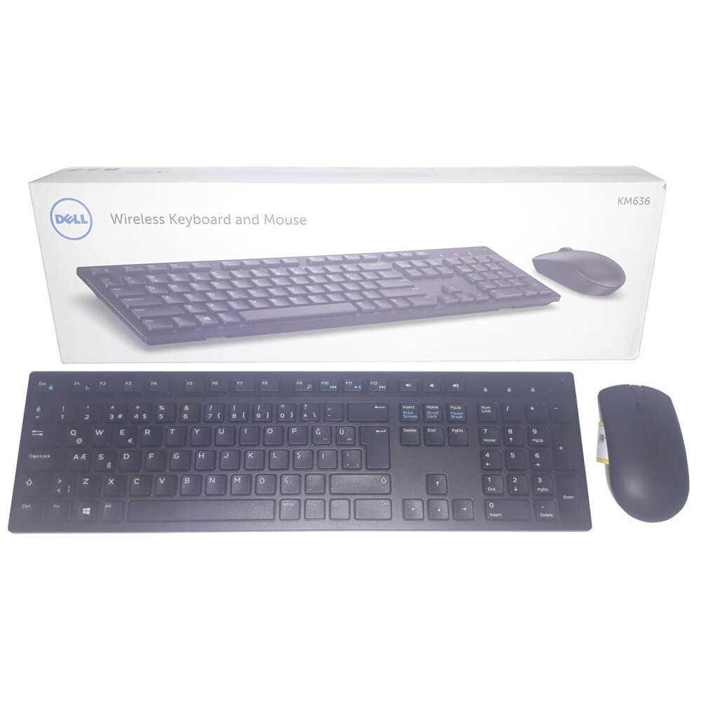 Dell KM636 580-ADGJ Kablosuz Q Türkçe Klavye Mouse Seti