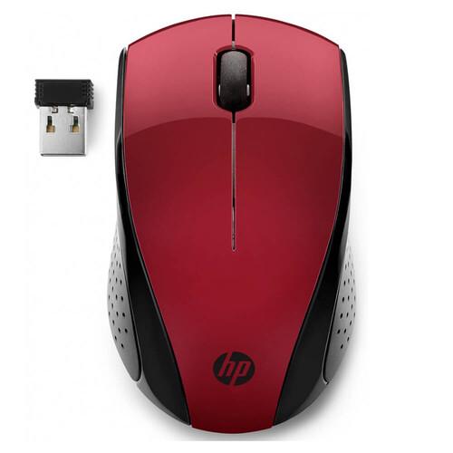 HP 220 Wireless Kablosuz Kırmızı Mouse 7KX10AA - Thumbnail