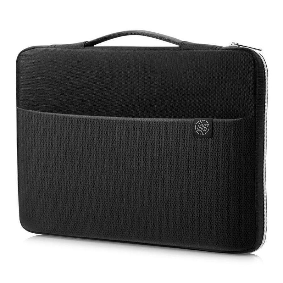 "HP - HP Üstten Kulplu Laptop Kılıfı Siyah/Gümüş 15,6"" 39,62 cm (3XD36AA)"