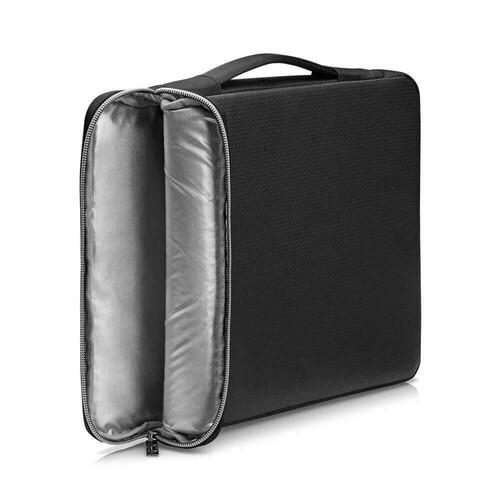 """HP Üstten Kulplu Laptop Kılıfı Siyah/Gümüş 15,6"""" 39,62 cm (3XD36AA) - Thumbnail"""