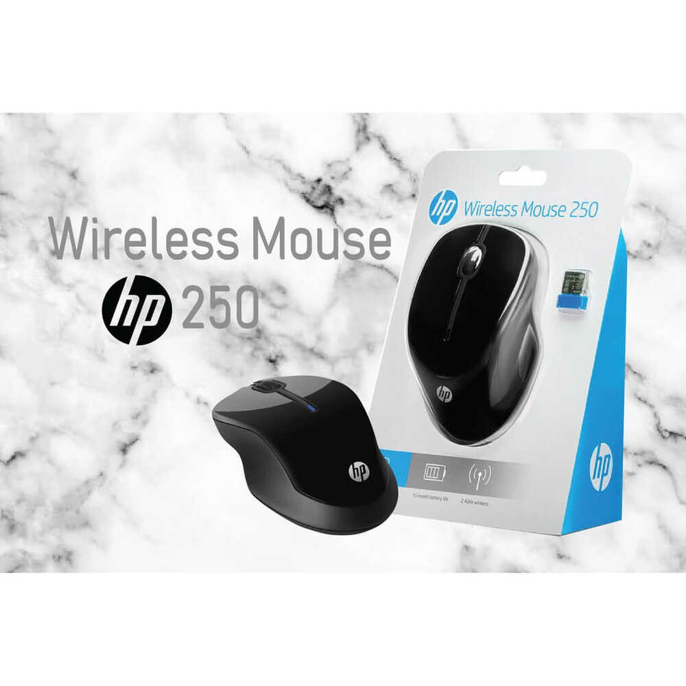 HP 250 Wireless Kablosuz Siyah Mouse (3FV67AA)