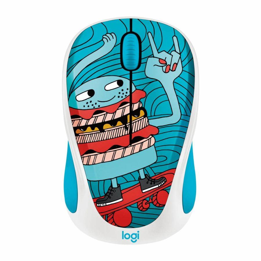 LOGITECH - Logitech M238 Skateburger Doodle Collection 910-005052 USB Kablosuz Mouse