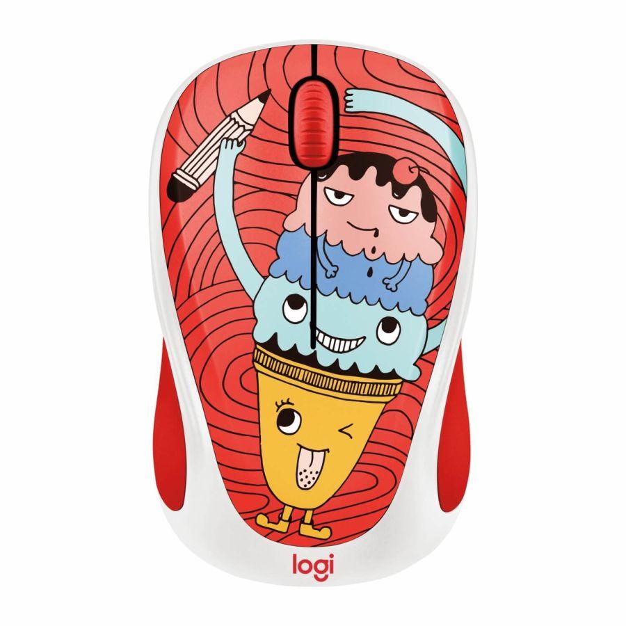 LOGITECH - Logitech M238 Triple Scoop Doodle Collection 910-005051 USB Kablosuz Mouse