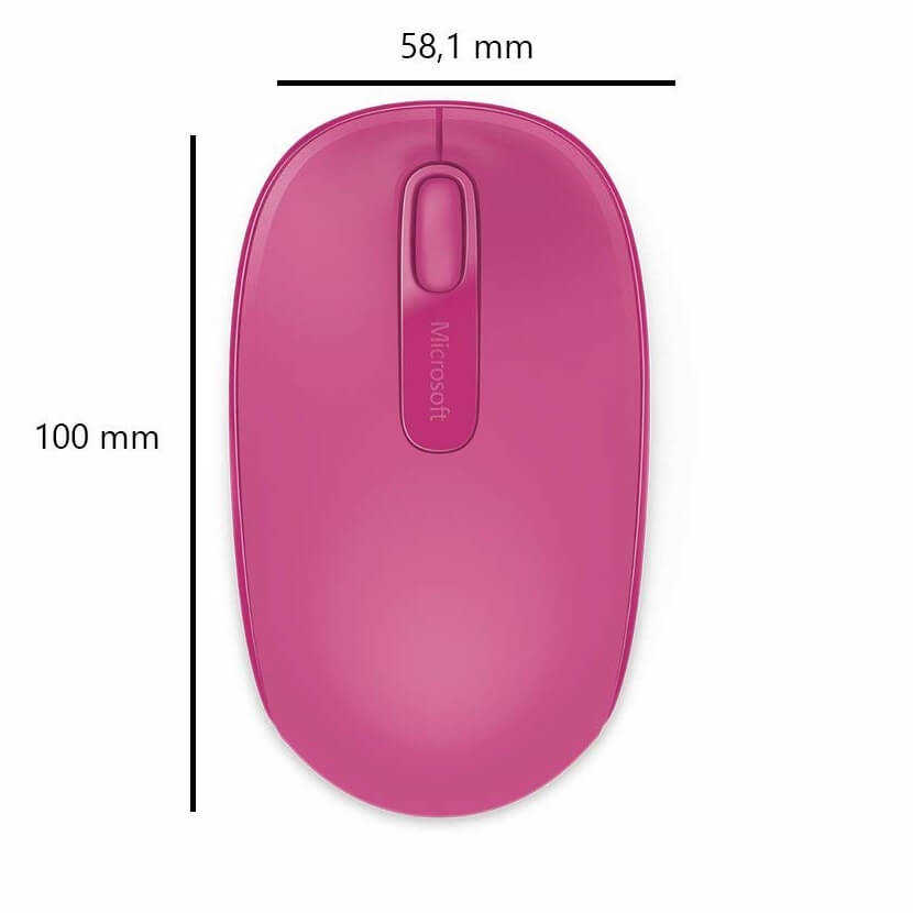 Microsoft 1850 U7Z-00064 Mac/Win Pembe Wireless Mobile USB Mouse