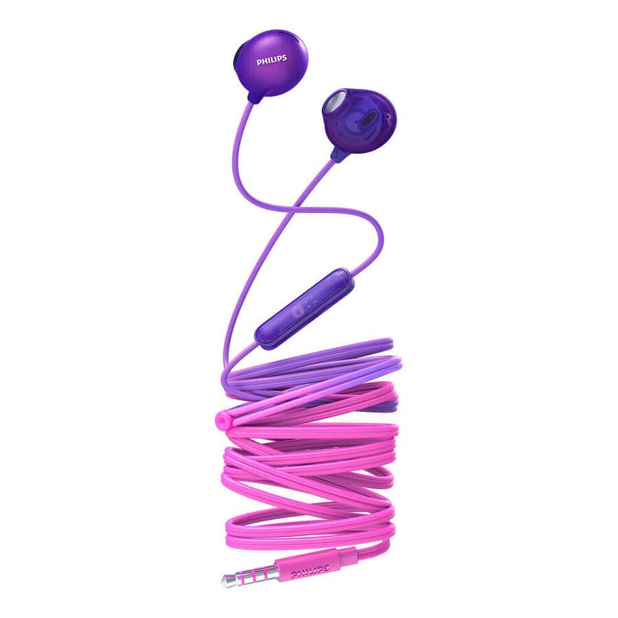 PHILIPS - PHILIPS SHE2305PP Mor Kablolu Kulakiçi Mikrofonlu Kulaklık