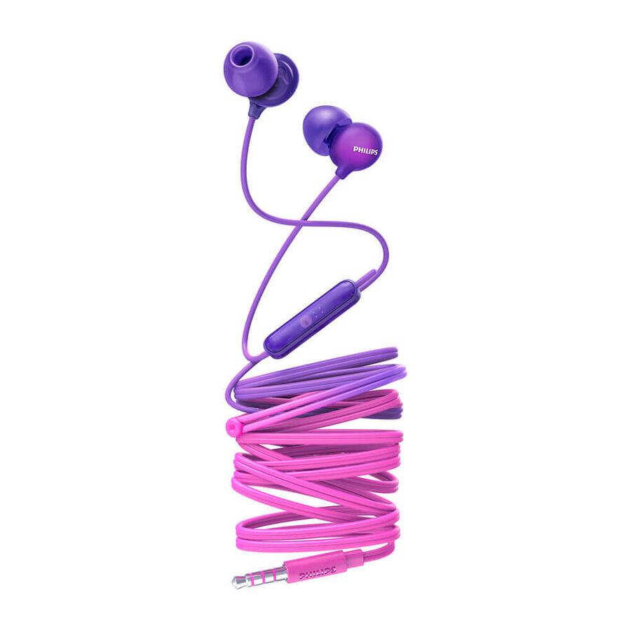 PHILIPS - PHILIPS SHE2405PP Mor Kablolu Kulakiçi Mikrofonlu Kulaklık