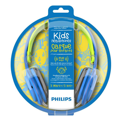 Philips SHK2000BL Kids On-Ear Mavi Yeşil Kablolu Kulaküstü Çocuk Kulaklığı - Thumbnail