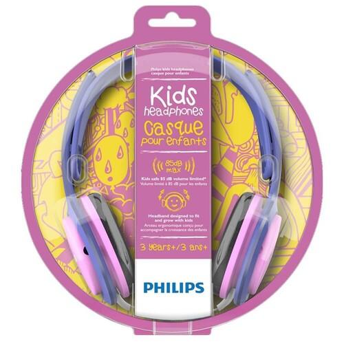 Philips SHK2000PK Kids On-Ear Pembe Mor Kablolu Kulaküstü Çocuk Kulaklığı - Thumbnail