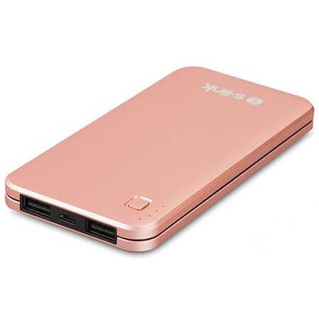S-LINK - S-Link IP-G17 10000 mAh Powerbank Taşınabilir Şarj Cihazı Rose Gold IP-G17-RG