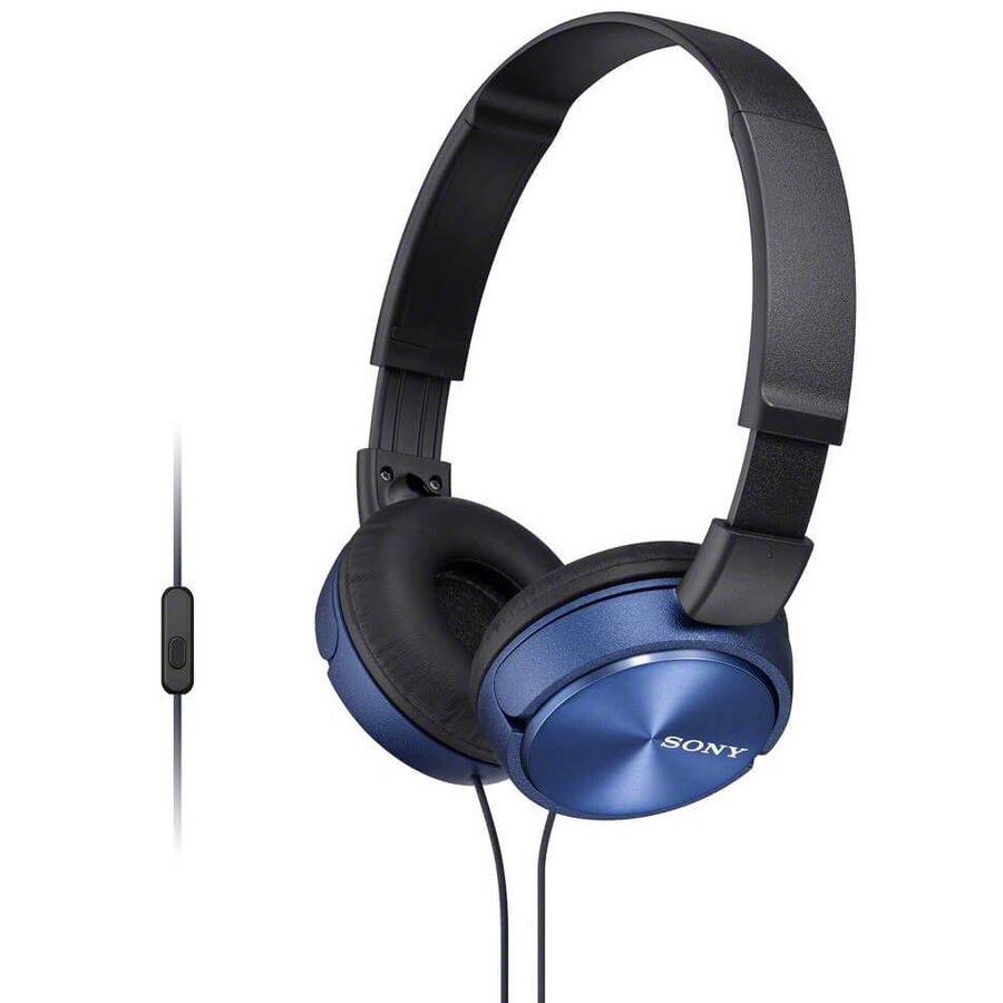 SONY - Sony MDR-ZX310APL Stereo Mikrofonlu Kulaküstü Mavi Kulaklık