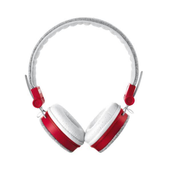 TRUST - Trust 20073 Fyber Gri - Kırmızı Katlanabilir Mikrofonlu Kulaküstü Kulaklık