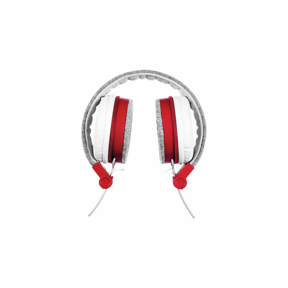 Trust 20073 Fyber Gri - Kırmızı Katlanabilir Mikrofonlu Kulaküstü Kulaklık