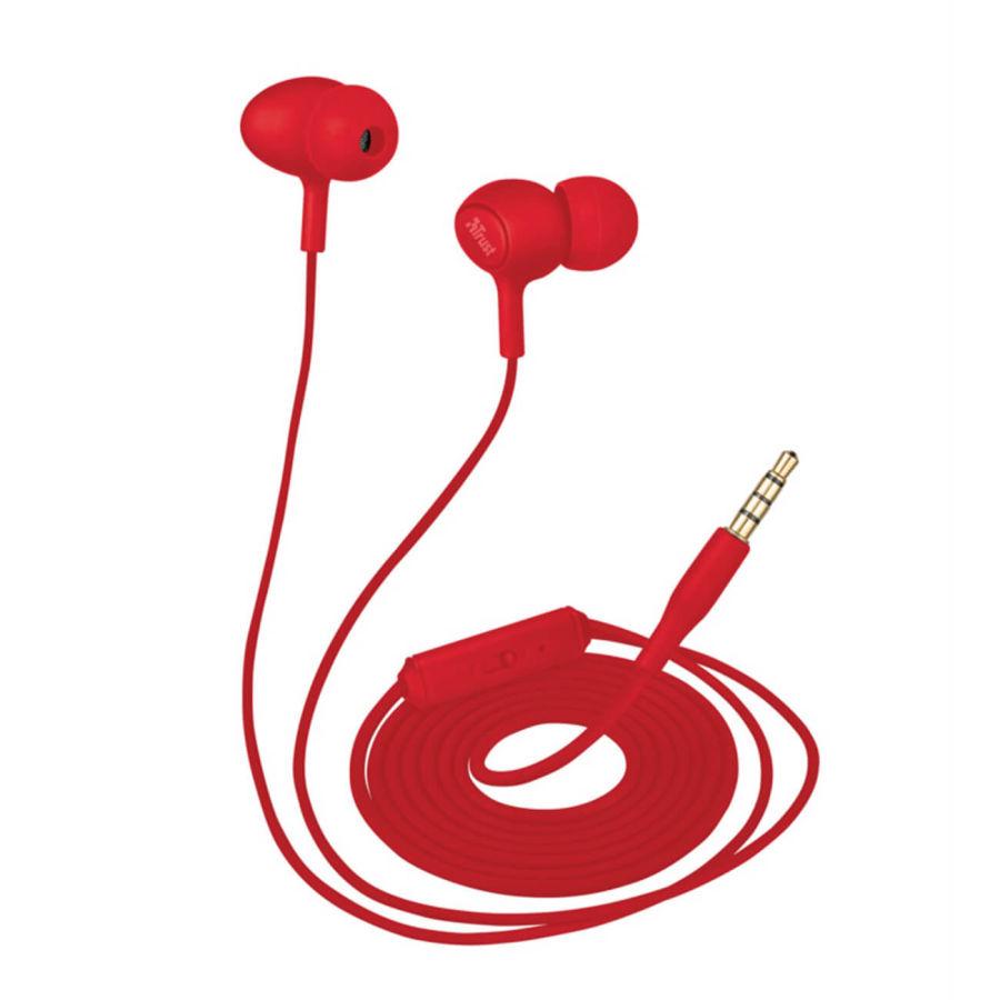 TRUST - Trust 21952 Ziva Kırmızı Mikrofonlu Kulakiçi Kulaklık