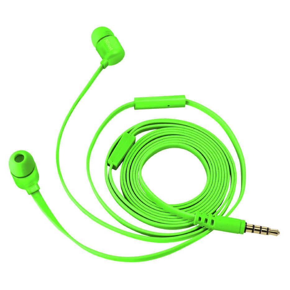 Trust 22108 Duga Neon Yeşil Mikrofonlu Kulakiçi Kulaklık