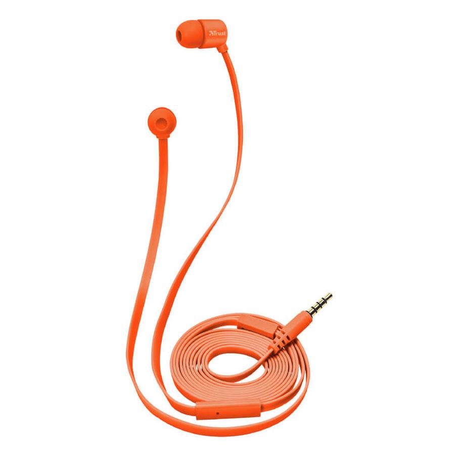 TRUST - Trust 22111 Duga Neon Turuncu Mikrofonlu Kulakiçi Kulaklık
