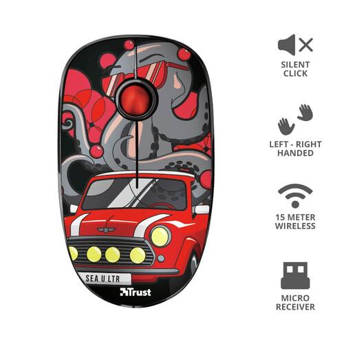 Trust 23336 Sketch Sessiz Kablosuz Kırmızı Mouse - Thumbnail
