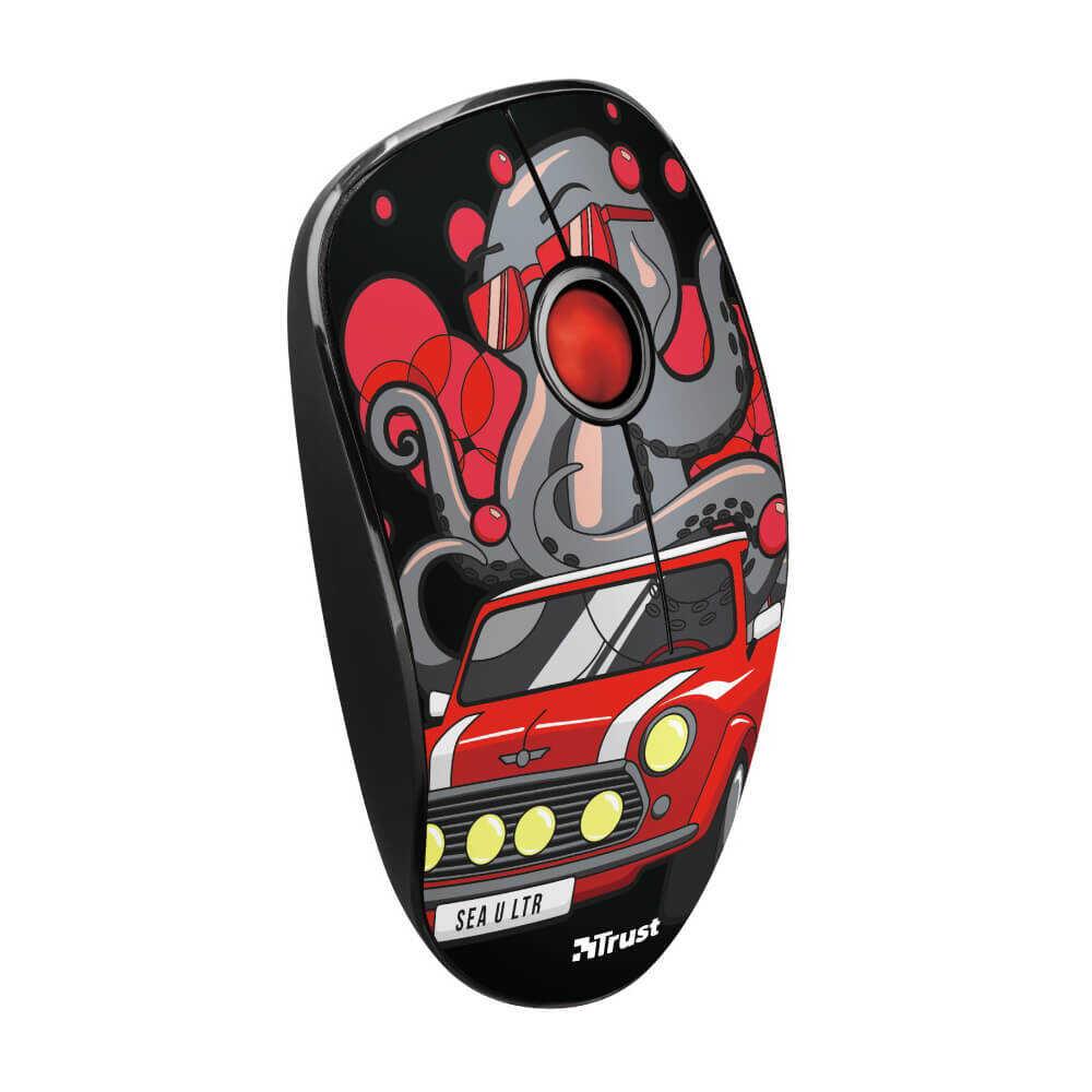 Trust 23336 Sketch Sessiz Kablosuz Kırmızı Mouse