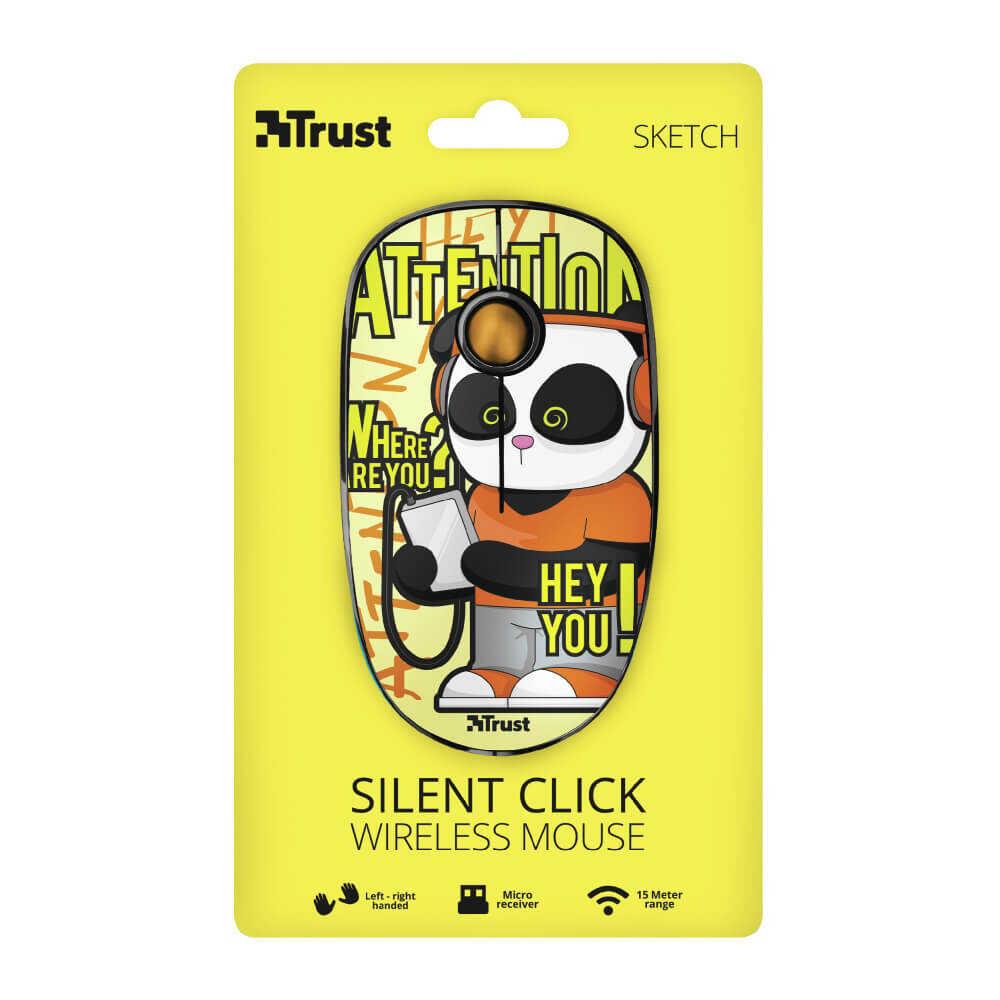 Trust 23337 Sketch Sessiz Kablosuz Sarı Mouse