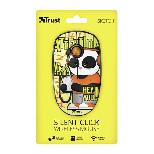 Trust 23337 Sketch Sessiz Kablosuz Sarı Mouse - Thumbnail