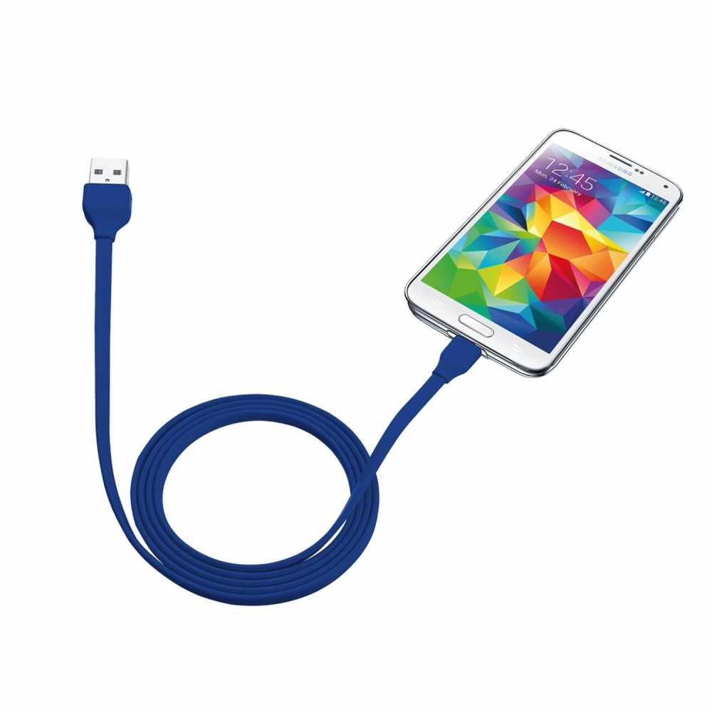 Trust 20136 Micro USB 1m Universal Mavi Şarj Kablosu