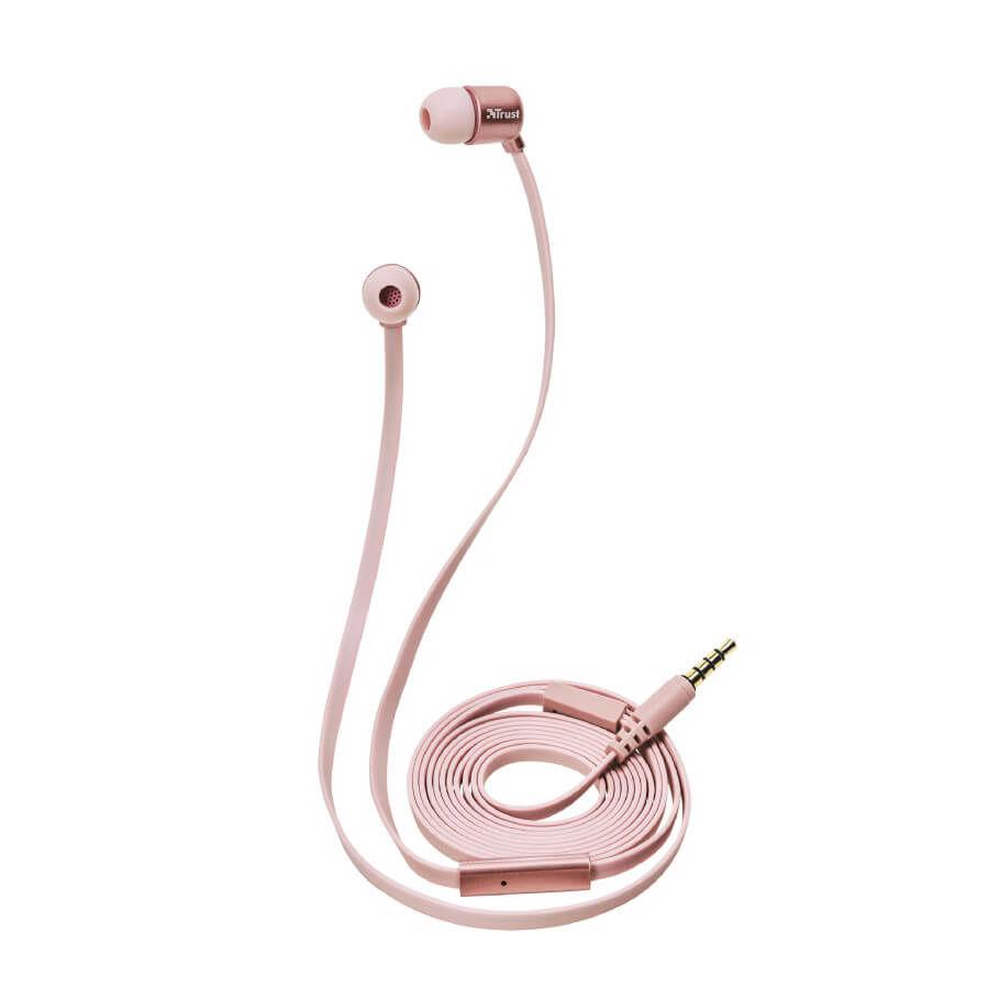 TRUST - Trust Urban 21114 Duga Rose Gold Kulak İçi Mikrofonlu Kulaklık