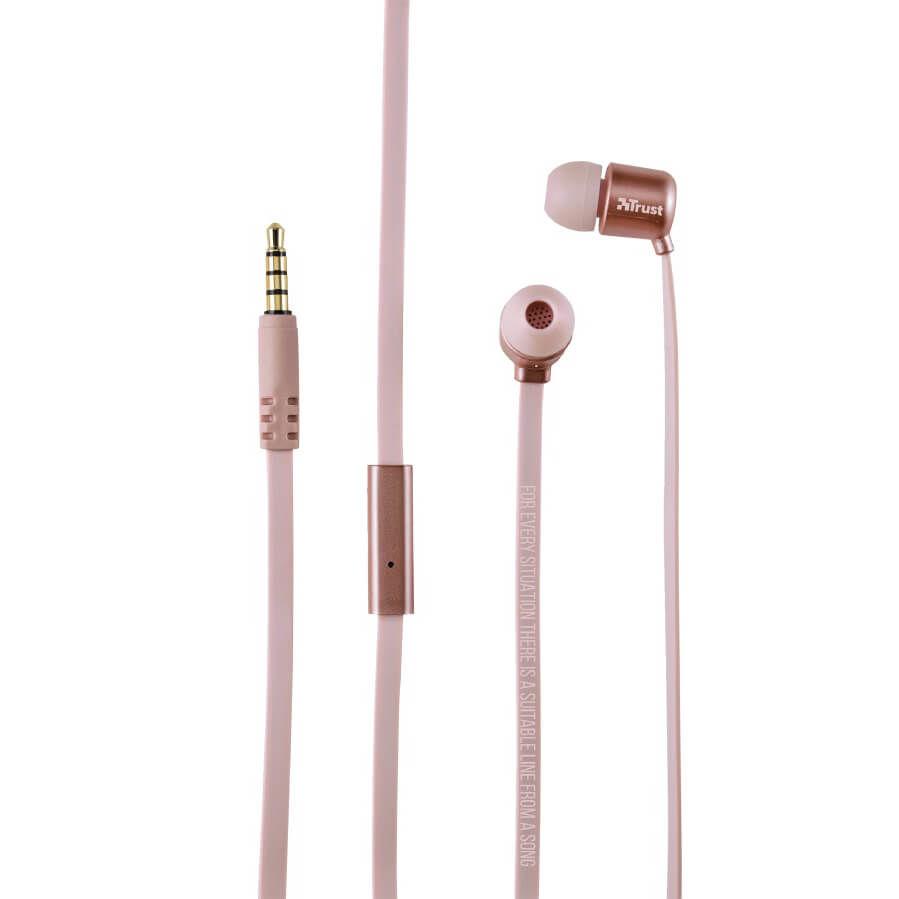 TRUST - Trust 21114 Duga Rose Gold Kulak İçi Mikrofonlu Kulaklık